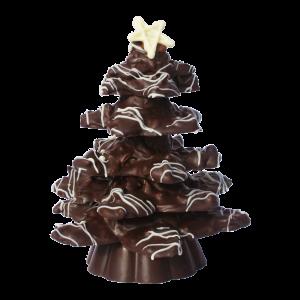 Dark chocolate Almond Christmas tree