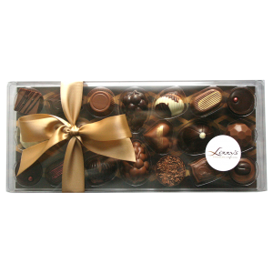 20 chocolates in the clear 300g gift box