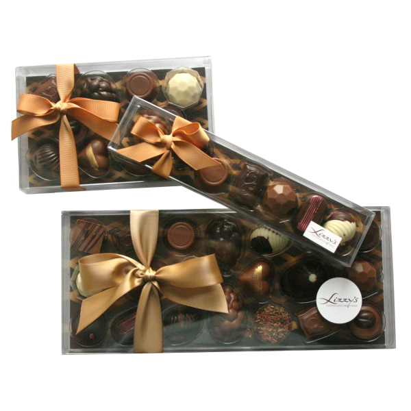 three boxes all varying sizes the 150g giftbox is the medium size