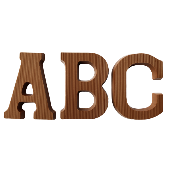 Chocolate letters - A B C