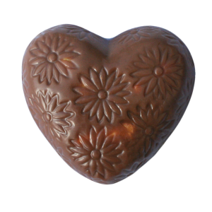 Speculaas and marshmallow chocolate heart