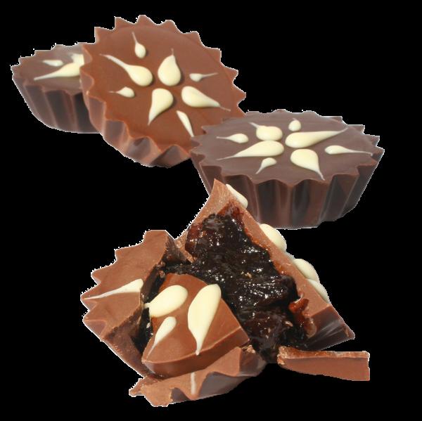 handmade chocolate fruit mince tarts