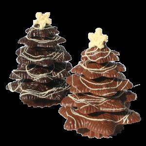Milk and dark chocolate christmass tree