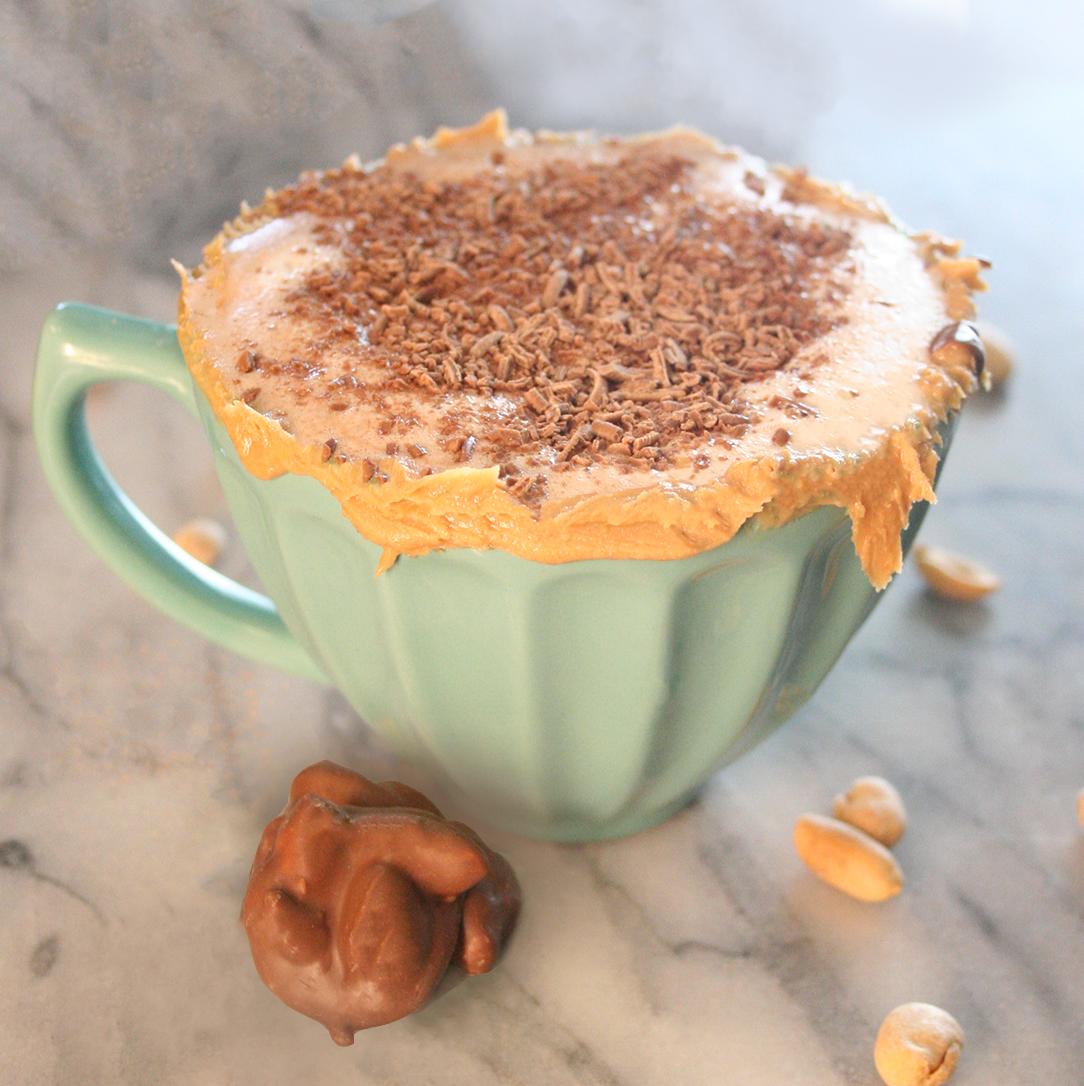 Peanut butter hot chocolate in much