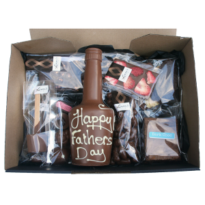 Fathers day extra large hamper box inside view
