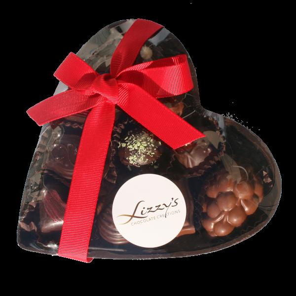 chocolate heart gift box