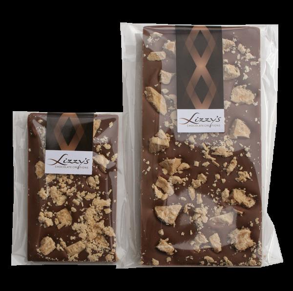 salted caramel fudge chocolate bar